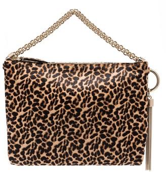 Jimmy Choo Calle leopard print shoulder bag