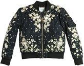 Givenchy Floral Print Nylon Padded Bomber Jacket
