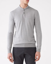 Merino Round Collar Knit Shirt