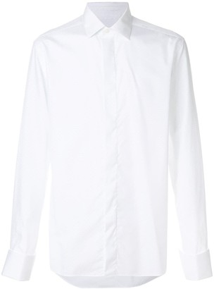 Corneliani Concealed Button Placket Shirt
