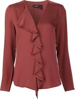Theory ruffled blouse