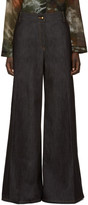 Valentino Navy Wide-leg Jeans