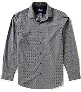 Hart Schaffner Marx Clip Dobby Dot Long-Sleeve Woven Shirt
