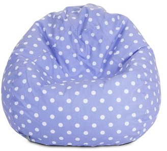 Majestic Home Goods Indoor Lime Small Polka Dot Classic Bean Bag Chair 28 in L x 28 in W x 22 in H