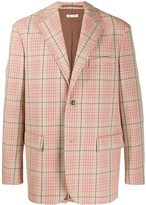 Marni plaid single breasted blazer