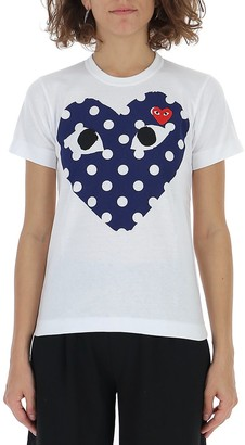 Comme des Garcons Double Heart Polka-Dot T-Shirt
