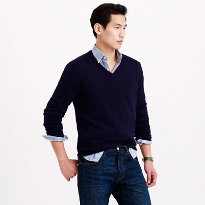 J.Crew Rugged cotton V-neck sweater