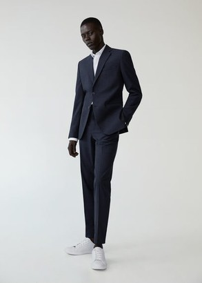 MANGO Slim fit wool suit blazer