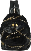 Moschino Faux fur small backpack