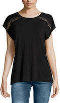 Buffalo David Bitton Short Sleeve Round Neck T-Shirt-Womens