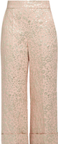 DELPOZO Floral-jacquard cropped trousers
