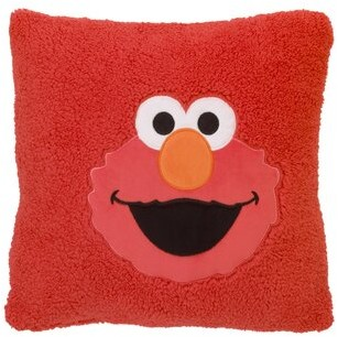 Sesame Street Elmo Super-Soft Sherpa Toddler Throw Pillow