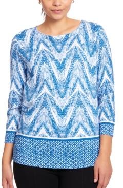 Joseph A Printed Keyhole Sweater