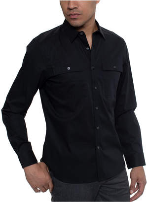 Kenneth Cole Men Two Pocket Solid Shirt