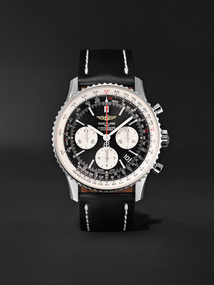 Breitling Navitimer 01 Chronograph 43mm Stainless Steel And Leather Watch, Ref. No. Ab012012/bb01