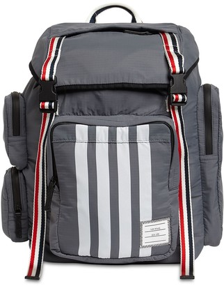 Thom Browne 4 Bar Print Nylon Grosgrain Backpack