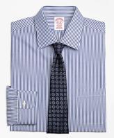 Brooks Brothers Non-Iron Madison Fit Bengal Stripe Dress Shirt
