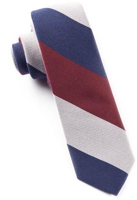 Tie Bar Big Wool Stripe Navy Tie