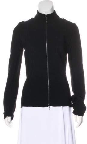 Alaia Knit Zip-Up Jacket