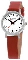 Mondaine '(Evo)lution' Leather Strap Watch, 26mm