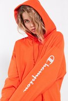 Champion + UO Powerblend Reflective Hoodie Sweatshirt