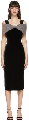 Christopher Kane Black Velvet Bow Dress