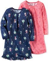 Carter's Girls' or Little Girls' 2-Pk. Fairy & Dot-Print Nightgown Set
