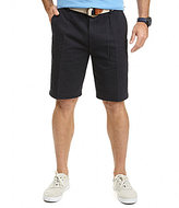 "Nautica Anchor Twill 8.5"" Flat-Front Shorts"