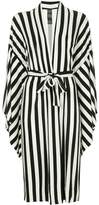 Norma Kamali striped belted shirt dress