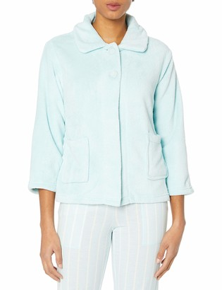 Casual Moments Women's Peter Pan-Collar Bed Jacket