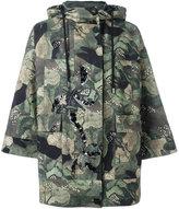 Antonio Marras camouflage print parka coat - women - Cotton/Acetate/Viscose - 38
