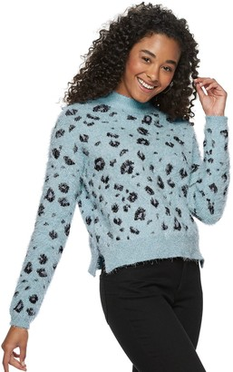 Candies Juniors' Candie's Eyelash Mock Neck Pullover Sweater