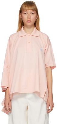 Lanvin Pink Oversize Asymmetric Polo