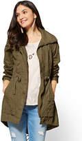 New York & Co. Drawstring Anorak Jacket