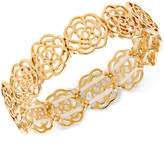 INC International Concepts Gold-Tone Openwork Flower Stretch Bracelet, Created for Macy's