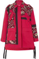 RED Valentino Oversized Embroidered Cotton-twill Jacket