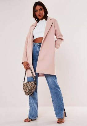 Missguided Nude Formal Coat