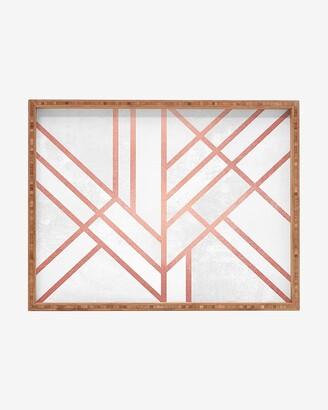 Express Deny Designs Art Deco Rose Gold Rectangular Tray