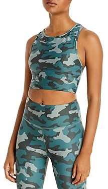 Aqua Athletic Camo Print Knit Sports Bra - 100% Exclusive