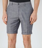Reiss Reiss Buckingham S - Check Shorts In Blue, Mens