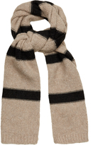 Brunello Cucinelli Striped wool and cashmere-blend scarf