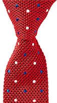 Roundtree & Yorke Double Dot Knit Skinny Silk Tie