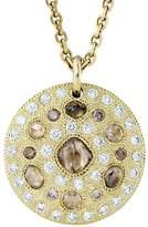 De Beers Yellow Gold Talisman Medal Necklace