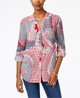Charter Club Petite Paisley Shirt, Only at Macy's