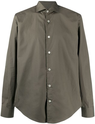 Eleventy Button-Down Fitted Shirt