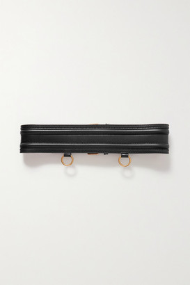Alexander McQueen Buckle-detailed Leather Corset Belt - Black