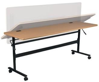 "Gainesboro Economy Flipper Training Table with Wheels Ebern Designs Size: 29.5"" H x 60"" L x 24"" W, Tabletop Finish: Teak"