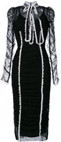 Dolce & Gabbana gathered lace trim dress