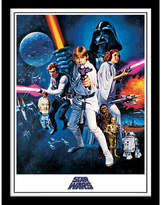 Star Wars A New Hope - One Sheet - Framed 30x40cm Print