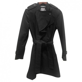 Diane von Furstenberg Black Cotton Coat for Women